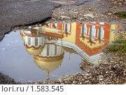 Купить «Купола Новоафонского монастыря. Отражение», фото № 1583545, снято 27 декабря 2009 г. (c) Анна Мартынова / Фотобанк Лори