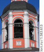 Купить «Москва. Колокольня Свято-Данилова монастыря», эксклюзивное фото № 1583613, снято 17 марта 2010 г. (c) lana1501 / Фотобанк Лори