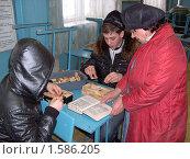 Обучающиеся ПТУ пробуют выкладывать камины (2010 год). Редакционное фото, фотограф Юрий Зуев / Фотобанк Лори