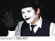 """Купить «Жест рукой """"Привет!""""», фото № 1586497, снято 13 декабря 2009 г. (c) Михаил Смыслов / Фотобанк Лори"""