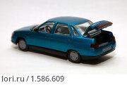 Купить «Масштабная модель автомобиля ВАЗ 2110», фото № 1586609, снято 28 марта 2010 г. (c) Момотюк Сергей / Фотобанк Лори