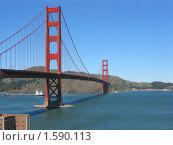 Купить «Мост Золотые ворота в Сан-Франциско», фото № 1590113, снято 4 февраля 2008 г. (c) Валентина Троль / Фотобанк Лори