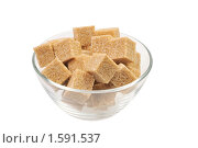 Купить «Тростниковый сахар в стеклянной вазе на белом фоне», фото № 1591537, снято 10 января 2010 г. (c) Денис Ларкин / Фотобанк Лори