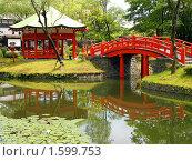Купить «Пруд в Деревне Самураев. Япония, о.Хоккайдо», фото № 1599753, снято 28 июля 2009 г. (c) RedTC / Фотобанк Лори