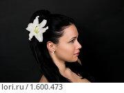 Купить «Девушка c белой лилией», фото № 1600473, снято 3 марта 2010 г. (c) Okssi / Фотобанк Лори