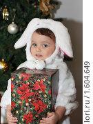 Купить «Ребенок получил подарок на новый год», фото № 1604649, снято 6 января 2010 г. (c) Кастерина Ольга / Фотобанк Лори