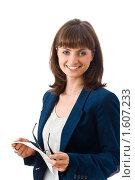 Улыбающаяся деловая женщина. Стоковое фото, фотограф Игорь Губарев / Фотобанк Лори
