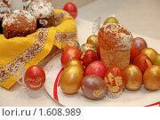 Куличи и яйца. Стоковое фото, фотограф Межерицкая Юлия Сергеевна / Фотобанк Лори