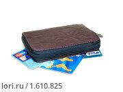 Визитница с набором кредитных карточек. Редакционное фото, фотограф Александр Букша / Фотобанк Лори