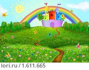 Купить «Детский сказочный фон», иллюстрация № 1611665 (c) Дорощенко Элла / Фотобанк Лори