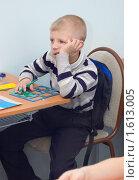 Купить «Мальчик на уроке», фото № 1613005, снято 17 октября 2018 г. (c) Типляшина Евгения / Фотобанк Лори