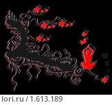 Медитация под деревом. Стоковая иллюстрация, иллюстратор Светлана Арешкина / Фотобанк Лори