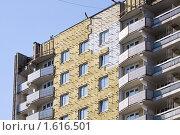 Купить «Утепление жилого дома», фото № 1616501, снято 7 апреля 2010 г. (c) Сергей Лаврентьев / Фотобанк Лори