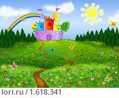 Купить «Детский сказочный фон», иллюстрация № 1618341 (c) Дорощенко Элла / Фотобанк Лори