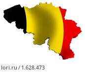 Купить «Бельгия карта страна флаг», иллюстрация № 1628473 (c) Савельев Андрей / Фотобанк Лори