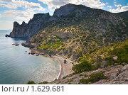 Купить «Морское побережье, Крым», фото № 1629681, снято 18 июня 2009 г. (c) Юрий Брыкайло / Фотобанк Лори