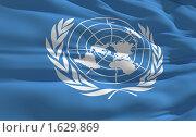 Флаг Организации Объединенных Наций. Стоковая иллюстрация, иллюстратор ИЛ / Фотобанк Лори