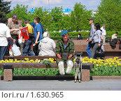 Купить «Девятого мая на Поклонной Горе в Парке Победы. Москва», эксклюзивное фото № 1630965, снято 9 мая 2009 г. (c) lana1501 / Фотобанк Лори