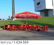 Купить «Уличное кафе   в Парке Победы. Москва», эксклюзивное фото № 1634569, снято 1 мая 2009 г. (c) lana1501 / Фотобанк Лори