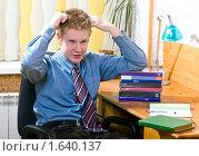Купить «Подготовка к выпускному экзамену», фото № 1640137, снято 13 декабря 2009 г. (c) Куликов Константин / Фотобанк Лори