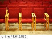 Купить «Ряды стульев в пустом зале», фото № 1643885, снято 15 июля 2009 г. (c) Losevsky Pavel / Фотобанк Лори