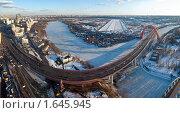 Купить «Панорама поймы Москвы-реки», фото № 1645945, снято 25 марта 2010 г. (c) Зайцев Алексей / Фотобанк Лори