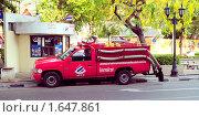 Купить «Пожарная машина в Бангкоке», фото № 1647861, снято 4 апреля 2010 г. (c) Виктор Карасев / Фотобанк Лори