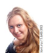 Купить «Портрет улыбающейся блондинки», фото № 1649993, снято 9 июля 2009 г. (c) Миронова Евгения / Фотобанк Лори