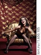 Купить «Гламурная истеричная девушка в», фото № 1650105, снято 8 апреля 2010 г. (c) Raev Denis / Фотобанк Лори