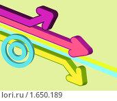 Абстрактный фон с цветными стрелками. Стоковая иллюстрация, иллюстратор Светлана Широкова / Фотобанк Лори