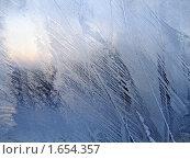 Купить «Замерзшее оконное стекло», фото № 1654357, снято 23 декабря 2004 г. (c) Dina / Фотобанк Лори