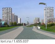 Купить «Москва. Городской пейзаж.   Строгино», эксклюзивное фото № 1655037, снято 9 сентября 2009 г. (c) lana1501 / Фотобанк Лори