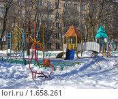Купить «Детская площадка», эксклюзивное фото № 1658261, снято 11 марта 2010 г. (c) lana1501 / Фотобанк Лори