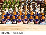 Купить «Шахматы с рисунком американского флага», фото № 1658825, снято 3 апреля 2010 г. (c) ИВА Афонская / Фотобанк Лори