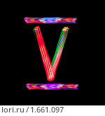 Цифра V на черном фоне. Стоковое фото, фотограф Олег Кириллов / Фотобанк Лори