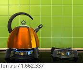 Купить «Оражевый чайник», иллюстрация № 1662337 (c) Hemul / Фотобанк Лори