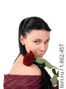 Купить «Девушка с красной розой», фото № 1662457, снято 3 марта 2010 г. (c) Okssi / Фотобанк Лори