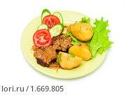 Купить «Мясо с картошкой», фото № 1669805, снято 7 декабря 2009 г. (c) Анна Игонина / Фотобанк Лори