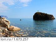 Скала в море. Стоковое фото, фотограф Пасечник Игорь / Фотобанк Лори