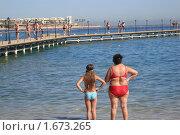 Купить «Отдыхающие на пляже», фото № 1673265, снято 10 января 2010 г. (c) Ivanova Irina / Фотобанк Лори