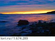 Купить «Закат на Баренцевом море», фото № 1674289, снято 22 сентября 2007 г. (c) Мирзоянц Андрей / Фотобанк Лори
