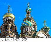 Купить «Купола на фоне неба», фото № 1674305, снято 10 сентября 2008 г. (c) Мирзоянц Андрей / Фотобанк Лори