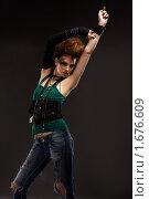 Купить «Девушка панк», фото № 1676609, снято 11 апреля 2010 г. (c) Serg Zastavkin / Фотобанк Лори
