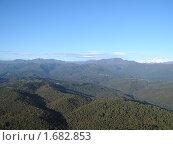 Купить «Кавказские горы с высоты птичьего полета», фото № 1682853, снято 24 октября 2005 г. (c) Шарабарин Антон / Фотобанк Лори