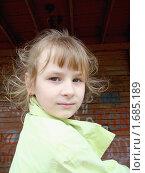 Купить «Портрет светловолосой девочки», фото № 1685189, снято 5 мая 2010 г. (c) Сметанова Наталия / Фотобанк Лори