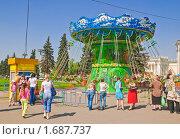 Купить «Карусель на ВВЦ (ВДНХ)», эксклюзивное фото № 1687737, снято 8 мая 2010 г. (c) Алёшина Оксана / Фотобанк Лори