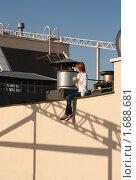 Кофе на крыше. Стоковое фото, фотограф Валерий Степанов / Фотобанк Лори