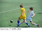 Купить «Детский футбол», эксклюзивное фото № 1695301, снято 9 мая 2010 г. (c) Андрей Пашков / Фотобанк Лори