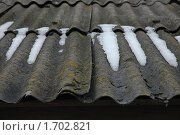 Старая шиферная крыша. Стоковое фото, фотограф Savenkova Natalia Anatolievna / Фотобанк Лори