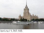 Купить «Обновленная гостиница Украина на берегу реки Москва», фото № 1707105, снято 16 мая 2010 г. (c) nikshor / Фотобанк Лори
